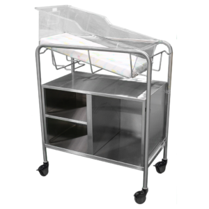 Bassinet Carrier with Open Cabinet