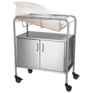 Stainless Steel Bassinet with Closed Cabinet