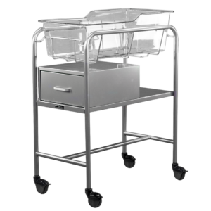 Stainless Steel Bassinet Carrier with End Drawer