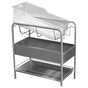 Stainless Steel Bassinet with Open Bin