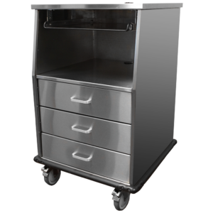 Stainless Steel Fetal Monitor Cart
