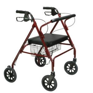 Go-Lite Bariatric Steel 4 Wheel Rollator
